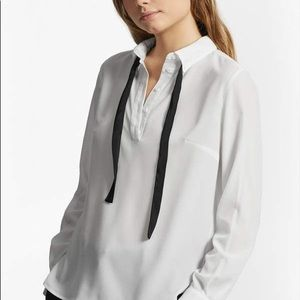 Polly plains tie neck shirt